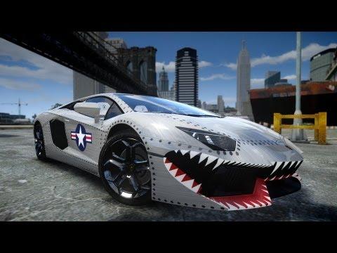 GTA IV 2012 Lamborghini Aventador LP700 4 USAF Crash Testing