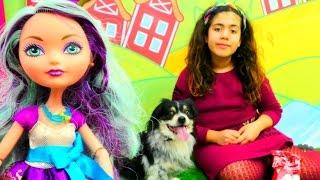 Gerçek köpeğe bakıyoruz 🐶! #kızoyuncakları - Monster High, Ever After High bebekleri, market oyunu!