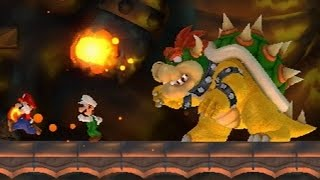 New Super Mario Bros Wii - All Castle Bosses (2 Players)
