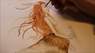 Centaur Lady Speed Painting By Heather Claughan
