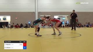 2018 Women's National /UWW Cadet Women Finals 46 RR Rnd 2 - Taryn Martin (Team) Vs. Olivia Shore (