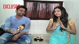 Shravan Reddy aka Aryan of Krishnadasi celebrates his birthday with Sana aka Aradhya.