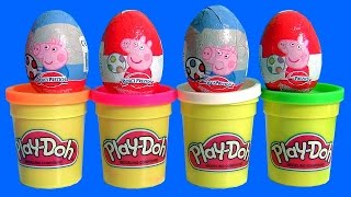 Play Doh Peppa Pig Surprise Eggs + 12 Huevos Sorpresa Cooking Chef Nurse Peppa Disney Frozen
