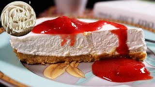 DIY- How To Make No-Bake Cheese Cake With Strawberry Sauce In Easy Steps(without Oven)