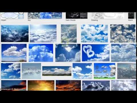 How to search amazing cloud images on Google