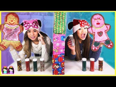 Twin Telepathy Christmas Gingerbread Cookie Challenge