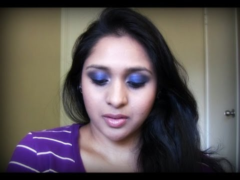 Glam & Sexy Night Time Look | Sapphire Blue Smokey Eyes Makeup