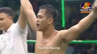 ឡៅ ចន្រ្ទា ប៉ះ ក្លាឃុនសឹក - Leo Chantrea (Cam) Vs Kla Kunsek (Thai), Khmer Boxing 2019