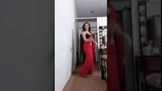 Hot & Sexy Indian girl red saree dance (Use Headphones for full effect)