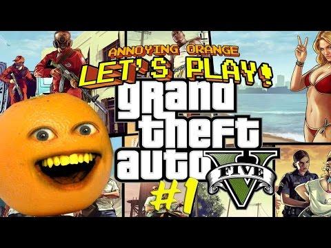Annoying Orange Plays GTA V: SECRET BUTT SHOTS!
