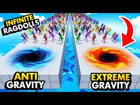 EXTREME GRAVITY vs ANTI GRAVITY With INFINITE RAGDOLLS Fun With Ragdolls The Game Funny Gameplay
