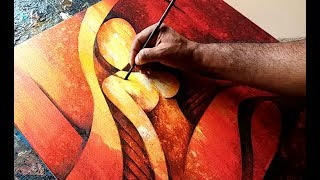 Abstract Painting / Abstract Figurative Painting in Acrylics 02 / Demonstration
