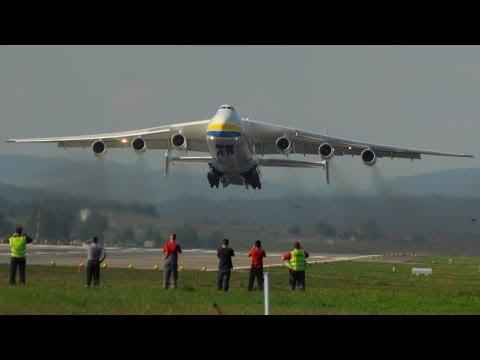Antonov 225 Mriya AMAZING take off runway 16 at ZRH