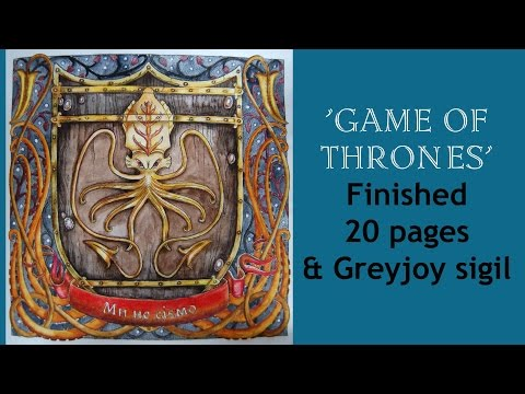 Colouring book  'The Game of Thrones' Finished 20 pages / Раскраска-антистресс Игра престолов