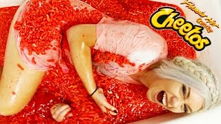 BATHING IN 2,000 HOT CHEETOS * 2 MILLION SUBSCIBERS SPECIAL *
