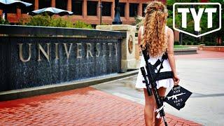 Gun Nut Marches Around College Campus With Assault Rifle
