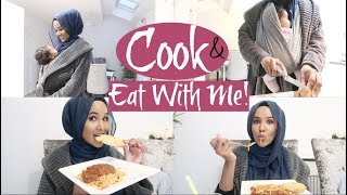 COOK AND EAT DINNER WITH ME+ CLEANING THE AFTERMATH  Zeinah Nur