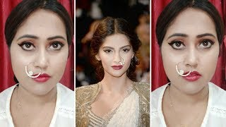 SONAM KAPOOR CANNES 2018 RED CARPET MAKEUP TUTORIAL   INDIA    Swagg with Rupali  