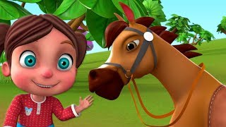 Chal Mere Ghode Chal Tik Tik | चल मेरे घोड़े | Hindi Kids Rhymes | Little Treehouse India