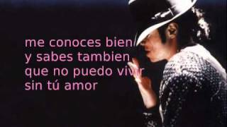 Todo mi amor eres tu - Michael Jackson (with lyrics)