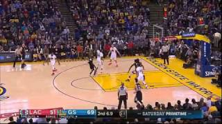 Stephen Curry hits half-court buzzer beater vs LA Clippers!