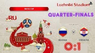 Russia - Croatia,  FIFA 18 World Cup 2018 Russia Prediction Games (Quarter-Finals)