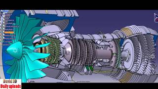 227. Pratt and Whitney turbofan engine(pure power 1000G) || Free download 3D model