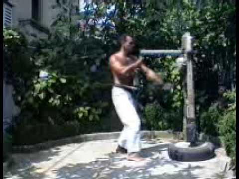 Wooden dummy Uechi ryu karate