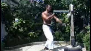 Wooden dummy-Uechi ryu karate