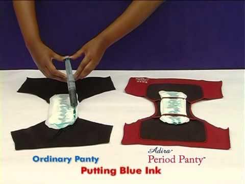 Adira Period Panty -  Leak Proof Test