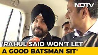 Rahul Gandhi Said - Will I Let A Good Batsman Sit On The Bench: Navjot Sidhu