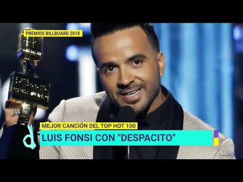 Luis Fonsi triunfó con 'Despacito' en los Premios Billboard 2018 | De Primera Mano
