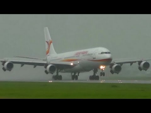 Xxx Mp4 A340 SLM PZ TCP Super Wet Landing At AMS Schiphol 3gp Sex