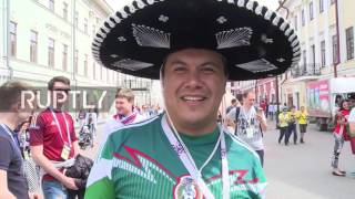 Russia: Mexican football team fans gear up for match against host team Russia