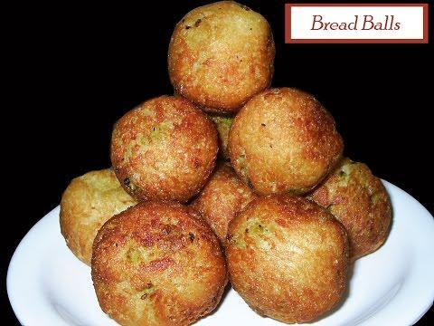 Bread Balls- Andhra Recipes - Andhra Cooking Telugu Vantalu Indian Cooking Andhra Vantalu
