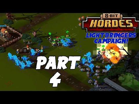 8-Bit Hordes Walkthrough: Part 4 - 3 Star Lightbringers Campaign! - PC Gameplay Playthrough 60fps