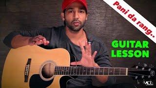 Pani Da Rang - Full Guitar Lesson For Beginners By VEER KUMAR