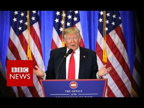 Donald Trump press conference highlights BBC News