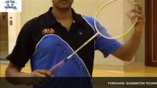 FOREHAND  BADMINTON TECHNIQUE   by Backhand King  &  World Champion Xiong Guobao