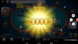 Game Luxy Poker, Kalah menang telak 20.000.000