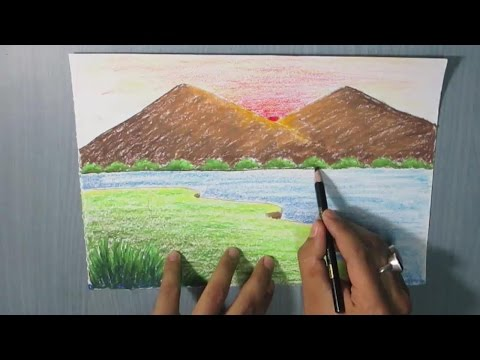 How To Draw A Mountain Landscape For Kids Easy Playithub Largest