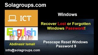 Recover Lost or Forgotten Windows Password 2019