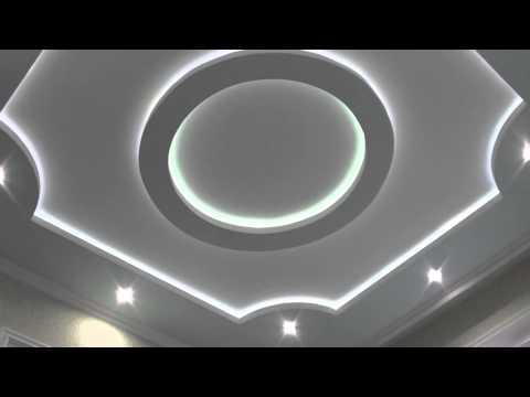 Как сделать круг из гипсокартона на потолке с подсветкой видео