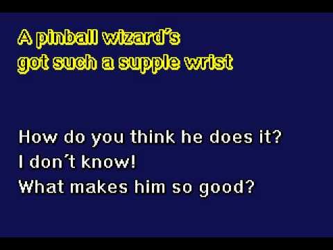 The Who - Pinball Wizard - Karaoke