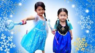 アナ♡エルサ☆光るミュージカルドレス☆ファッションショー風♪アナと雪の女王 Frozen Ana Elsa Musical Dress himawari-CH