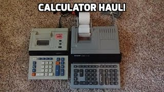 Examining Two Awesome Printing Calculators from Goodwill!