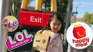 LOL Surprise Pets HappyMeal At McDonald's | Kids Toys LOL Surprise Series 3