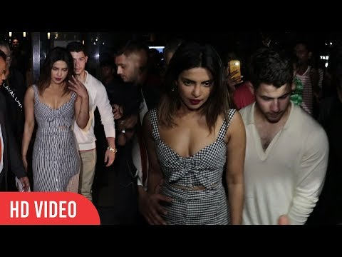 Priyanka Chopra and Nick Jonas Romantic Date in Mumbai | FULL HD VIDEO