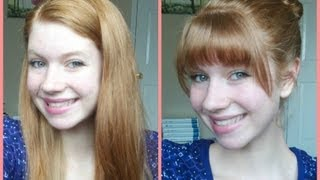 How To Cut Your Own Bangs/Fringe at Home!