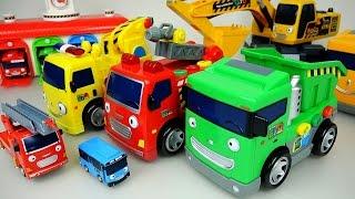 Tayo Heavy car toys and Pororo Robocar Poli car